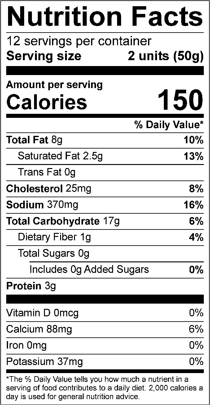 Gluten Free Snack Nutrition Facts